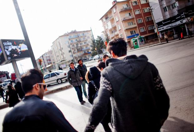 Eskisehir, Turkey, 2014 Sepehr Rajaei  and Ata Leysi on their way to a mall in Eskisehir.