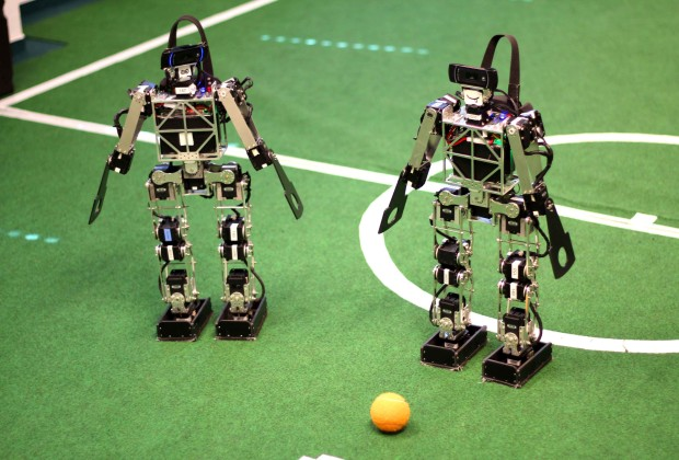 Soccer Playing Robots 03