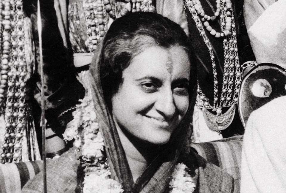 Undated file photograph, Indian Prime Minister Indira Gandhi is portrayed at the Talkatora Gardens in New Delhi.