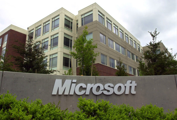 REDMOND, WA - MAY 22, 2002:  (FILE PHOTO)  An exterior view of the Microsoft headquarters during the Microsoft CEO Summit is shown May 22, 2002 in Redmond, Washington. A federal judge granted Microsoft's motion January 28, 2003 to throw out five consumer antitrust lawsuits in four states filed against the company, causing shares of Microsoft Corp. to trade up.  (Photo by Ron Wurzer/Getty Images)