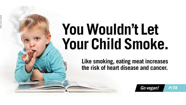 Smoking Child PETA Ads