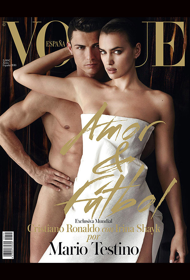 Vogue cover with Cristiano Ronaldo and Irina Shayk