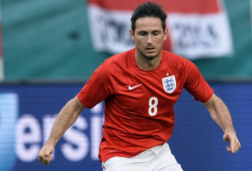 England midfielder Frank Lampard plays with the ball during the friendly match between England and Honduras at Miami Sun Life Stadium in Miami Gardens, Florida on June 7, 2014.
