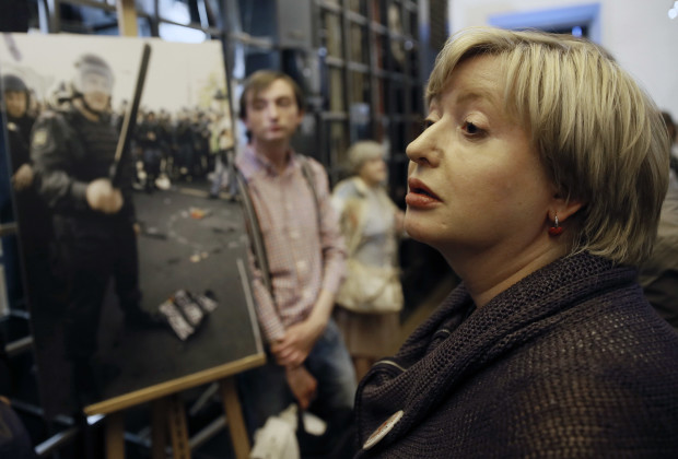 June 14, 2014 - Russian journalist Olga Romanova attends a charity event in support of 'May 6 prisoners' at the Andrei Sakharov Museum and Public Center in Moscow.