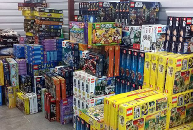 Approximately 18 pallets of Legos, or three truckloads, were seized from Koehler's home and storage units, according to Holmes