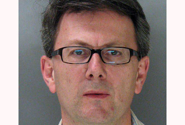This is an undated booking photo, provided by the Mountain View Police, of Thomas Langenbach, taken in Mountain View, Calif. Langenbach, a Silicon Valley technology executive, is facing charges after authorities say he changed the bar codes on Lego toys at a Target store to buy them for less.