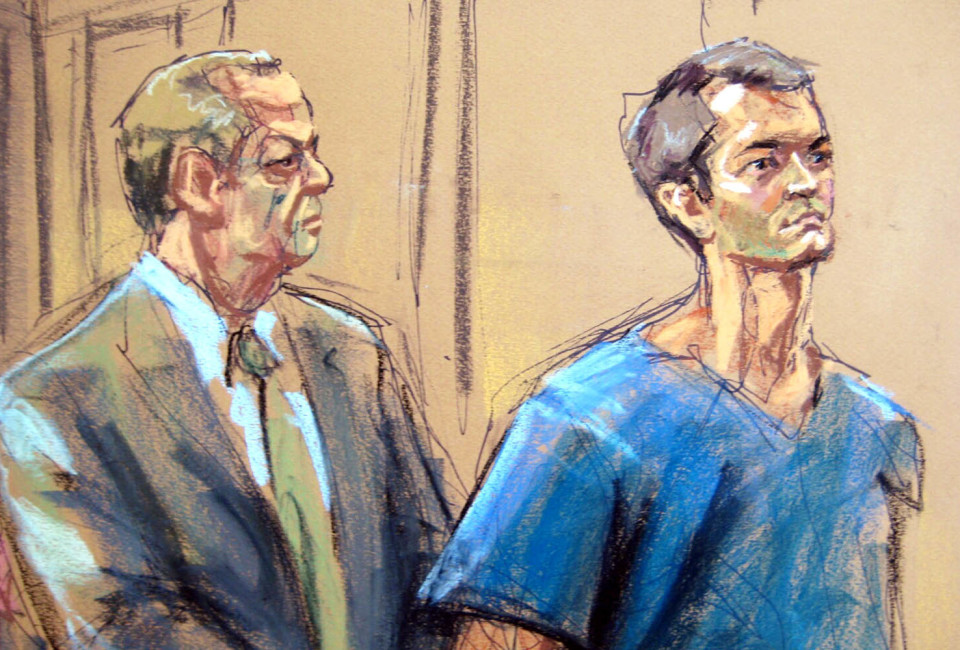 Ross Ulbricht , who prosecutors say created the underground online drugs marketplace Silk Road, makes an initial court appearance with his lawyer Joshua Dratel (L) in New York, February 7, 2014. Ulbricht, 29, pleaded not guilty to a four-count indictment unveiled Tuesday that included charges of money laundering conspiracy and engaging in a continuing criminal enterprise.   REUTERS/Jane Rosenberg (UNITED STATES - Tags: CRIME LAW) NO COMMERCIAL OR BOOK SALES. NO SALES. NO ARCHIVES. FOR EDITORIAL USE ONLY. NOT FOR SALE FOR MARKETING OR ADVERTISING CAMPAIGNS. THIS IMAGE HAS BEEN SUPPLIED BY A THIRD PARTY. IT IS DISTRIBUTED, EXACTLY AS RECEIVED BY REUTERS, AS A SERVICE TO CLIENTS