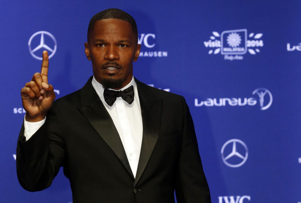 Actor Jamie Foxx arrives for the Laureus Sports Awards in Kuala Lumpur March 26, 2014. REUTERS/Samsul Said (MALAYSIA - Tags: ENTERTAINMENT SPORT) - RTR3IO3Q