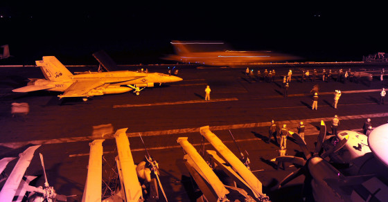 U.S. and Arab States Bomb ISIS in Syria