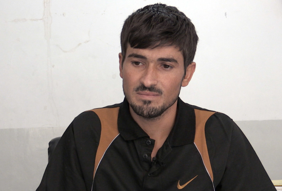 Said Murat, one of the survivors of the massacre in Kocho village, northern Iraq, where Islamic State militant allegedly murdered hundreds of Yezidi men on 15 August.