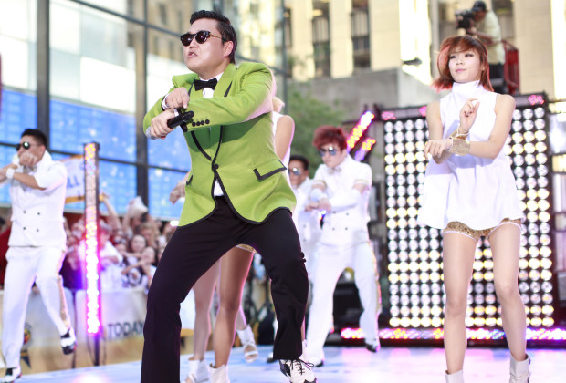 Korean rapper-singer Psy performs on NBC's 'Today' show in New York, September 14, 2012. REUTERS/Brendan McDermid (UNITED STATES - Tags: ENTERTAINMENT) - RTR37YZV