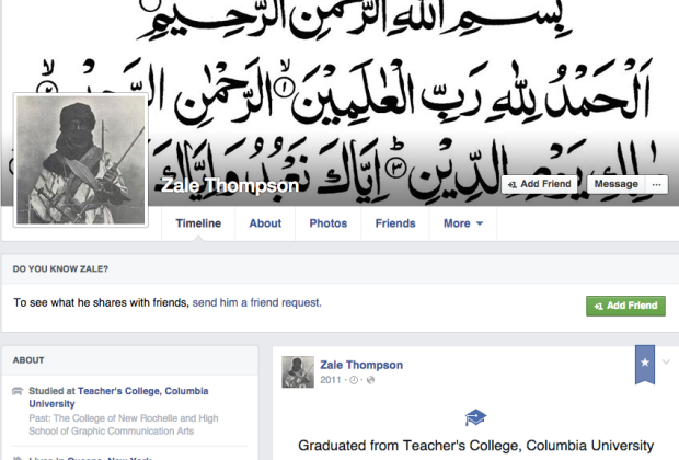 Attacker's Facebook Page