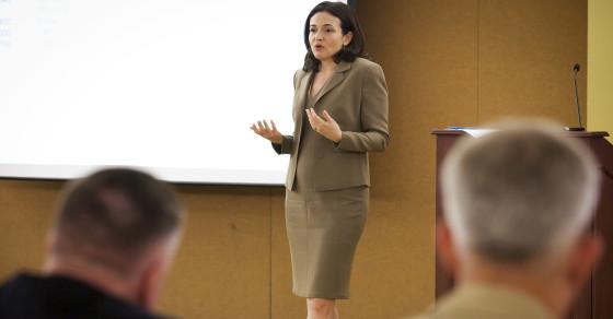 Marines Look To Sheryl Sandberg For Help Recruiting Women