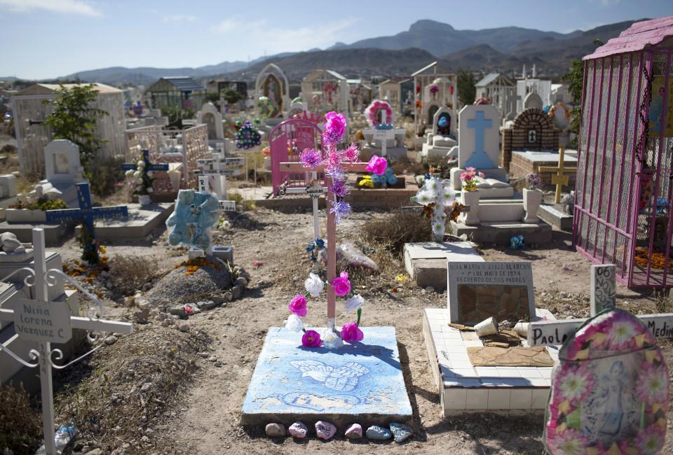 A view of Tepeyac graveyard, in Ciudad Juárez, Mexico, Thursday, November 13, 2014. Tepeyac graveyard is the biggest in Juárez.
