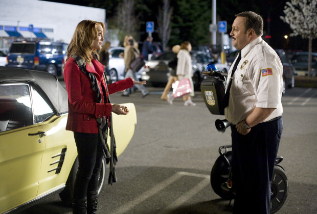 "Jayma Mays as ""Amy"" and Kevin James as ""Paul Blart"" in Columbia Pictures' comedy PAUL BLART: MALL COP."
