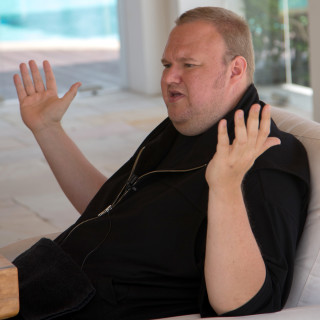 Jan. 18, 2013 - Coatesville, New Zealand - German born Internet entrepreneur Kim Dotcom is pictured during an interview at his house  in Coatesville, New Zealand, 18 January 2013. On 20 January 2012, the New Zealand Police placed him in custody in response to US charges of criminal copyright infringement in relation to his Megaupload website. Dotcom has vigorously denied the charges, and is fighting the attempt to extradite him to the United States. Photo: Max Gilbert (Credit Image: © Max Gilbert/DPA/ZUMAPRESS.com)