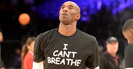 """People Are Pissed at the Lakers' Comic Sans """"I Can't Breathe"""" Shirts"""