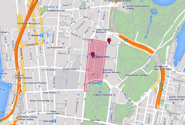Sydney Hostage Situation Map