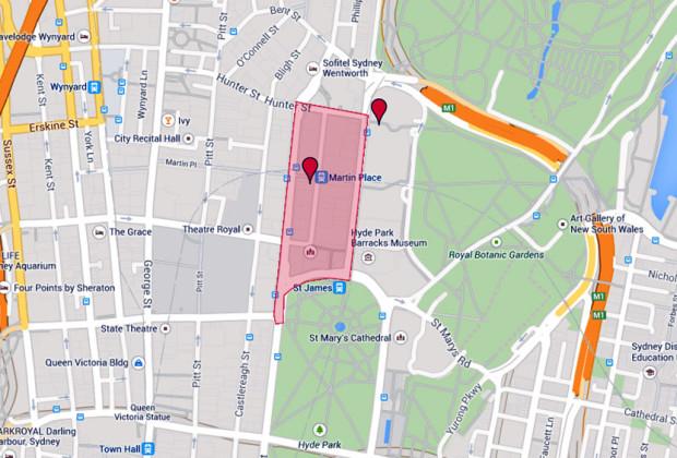 Sydney Hostage Situation Map
