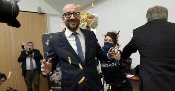 Belgium PM Handles French-Fry-and-Mayo Attack Like a Boss