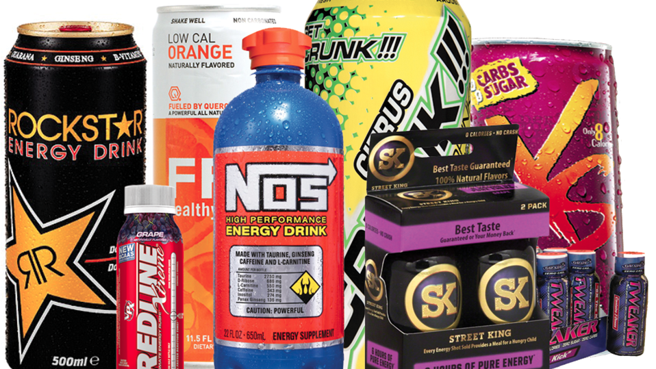 Energy drinks contain too much of a legal substance