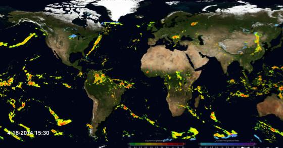 NASA Reveals Mesmerizing Map of Global Rainfall