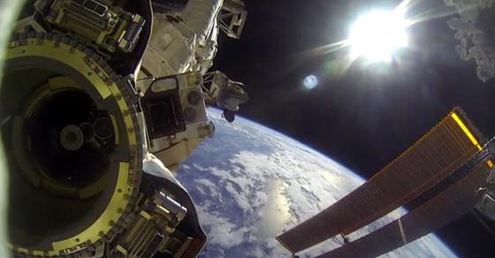 Astronaut Captures Spacewalk On GoPro
