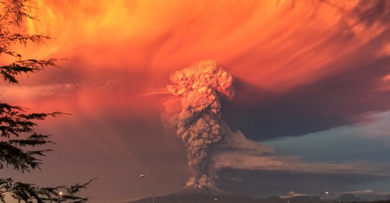 Chilean Volcano Erupts: Spews Ash Six Miles Into The Sky