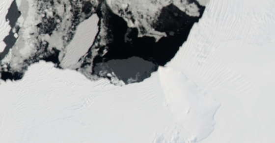 VIDEO: NASA Satellite Captures Birth Of A Huge Iceberg