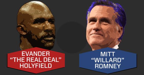 Mitt Romney Is Going To Fight Evander Holyfield