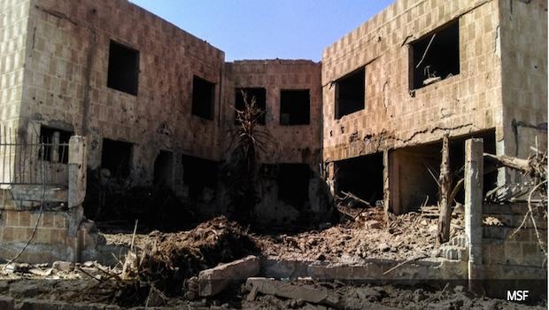 Barrel Bombs Syria Mursa Hospital