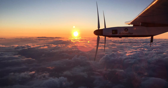 The Solar Impulse's Long Journey Across The Pacific