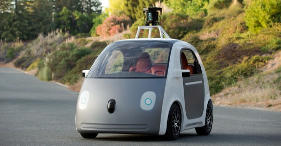 Google Self-Driving Car Spotted On Public Road In California
