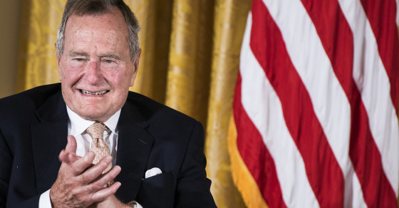 A Likely Explanation For George H.W. Bush's Broken Neck Bone