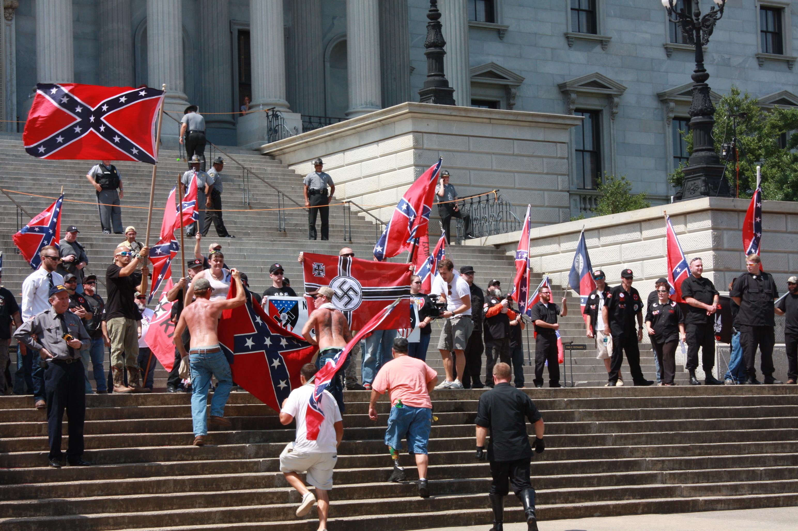 KKK South Carolina Confederate Flag Porotest 008