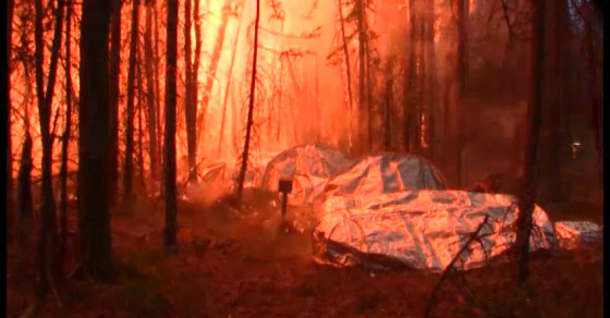 Watch NASA's New Fire Shelters Stand Up To Intense Heat