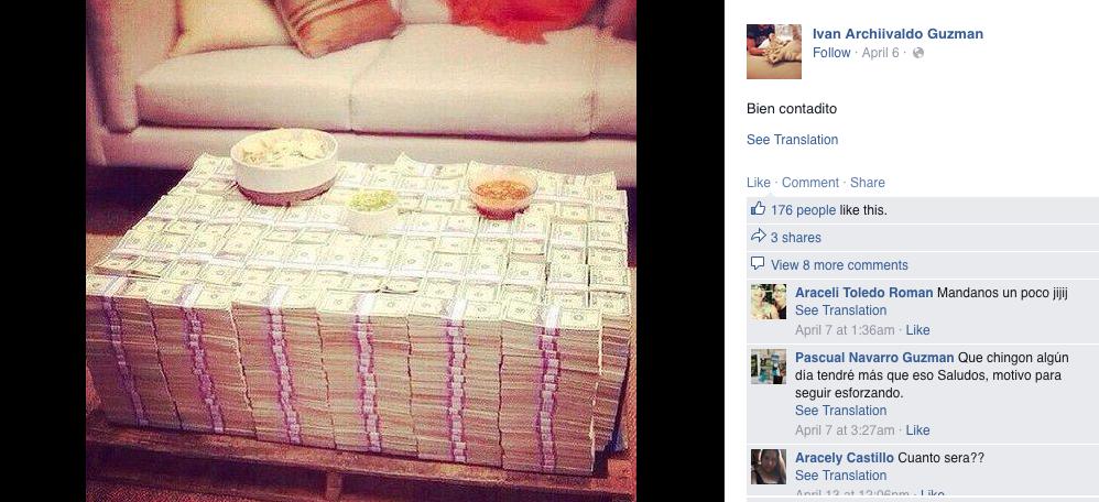 el chapo jr  u2019s facebook is a window into the drug cartel
