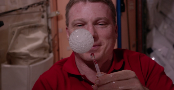 Watch These Astronauts Play With Fizzy Drinks In Space