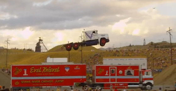 Semi Truck Jump Smashes Previous Record