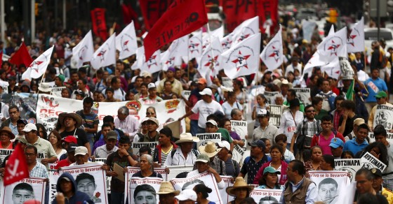 Mexican Protest For Disappeared Student Activists Goes Global