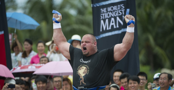 The World's Strongest Man Eats 7,360 More Calories Than You Do