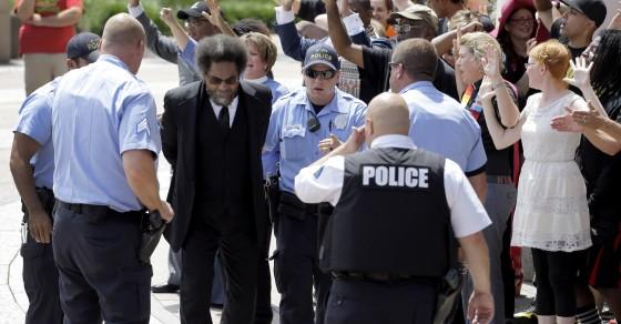 Cop Supporters Cheer Arrests Of Prominent Ferguson Activists