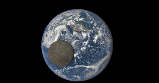 NASA Captures A Photo Of The Moon With The Earth