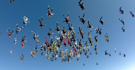 Skydivers Break Record For Largest Formation