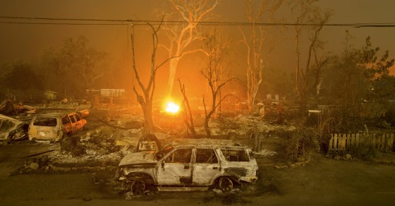 Massive Wildfire Burns Through Northern California