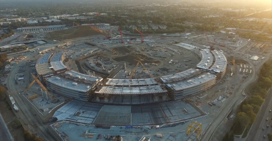 Incredible Drone Footage Of Apple's Soon-To-Be Campus