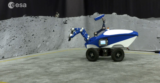 Astronaut In Space Drives A Rover On Earth