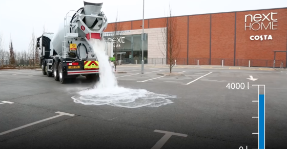 Watch This Concrete Suck Up 880 Gallons Of Water A Minute