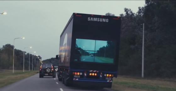 Samsung's See Through Trucks Receive Top Advertising Award