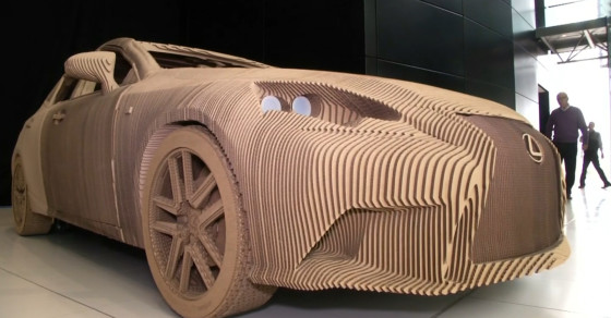 Watch This Lexus Car Made Of Cardboard Hit The Road